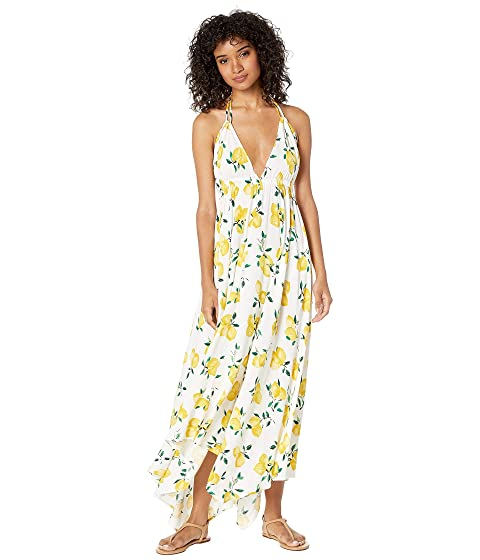 1792f4a572 Kate Spade New York Lemon Beach Halter Maxi Dress Cover-Up at Luxury ...
