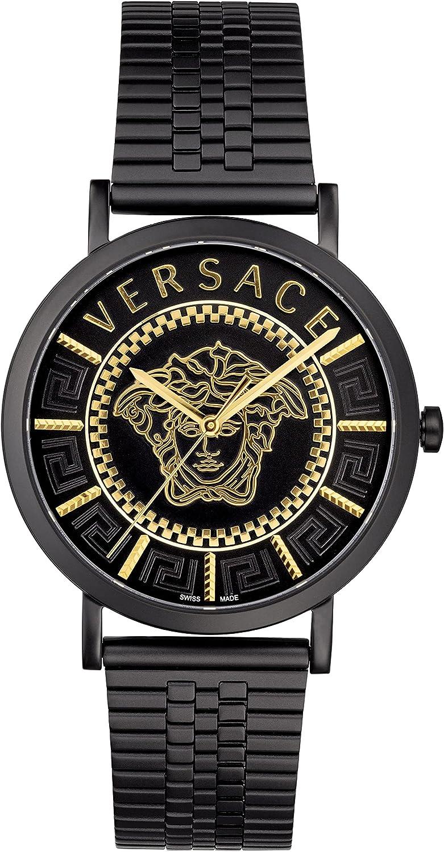 Versace V-Essential VEJ4006 21 - Reloj de pulsera para hombre (40 mm, acero inoxidable)