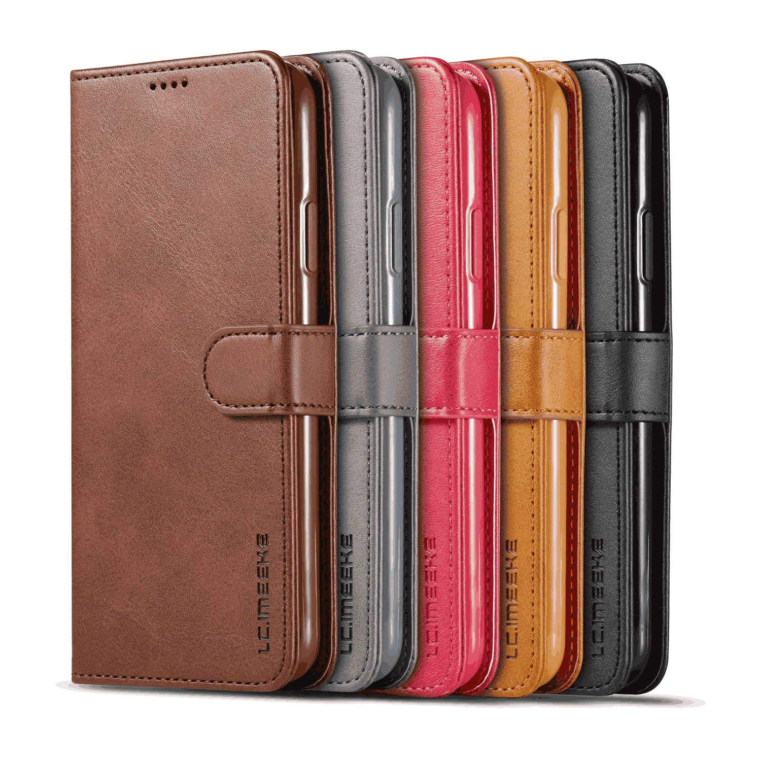 Leather Flip Case Fit for iPhone 11 Pro Max Extra-Protective Kickstand Card Holders Wallet Cover for iPhone 11 Pro Max