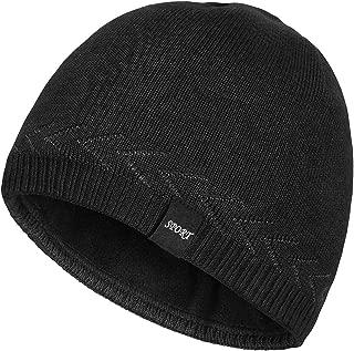OMECHY Mens Winter Warm Knitting Hats Plain Skull Beanie Cuff Toboggan Knit Cap 4 Colors