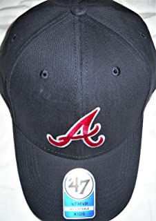 red white and blue atlanta braves hats