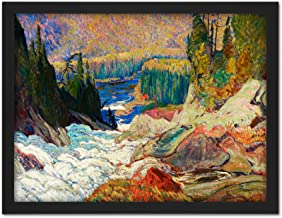 Jeh Macdonald Falls Montreal River Large Framed Art Print Poster Wall Decor 18x24