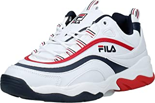 FILA RAY F LOW Men's Athletic & Outdoor Shoes, Multicolour (White/Navy/Red)
