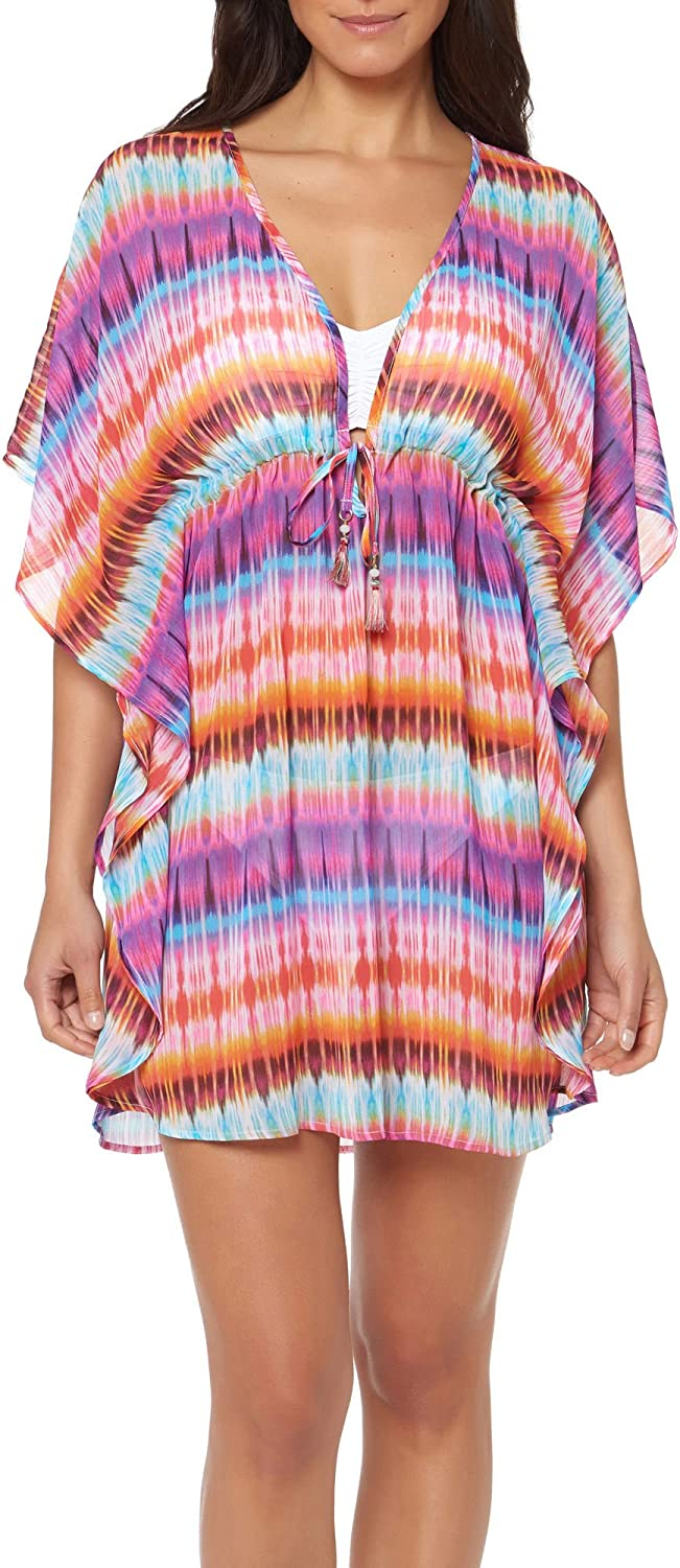 blue   Rod Beattie Women's Dream Weavers Tunic Swim Cover up