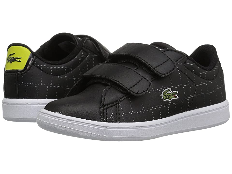 Lacoste Kids Carnaby Evo HL (Toddler/Little Kid) (Black/Fluorescent Yellow) Kids Shoes