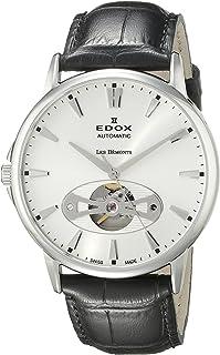 EDOX - Reloj para Hombre 85021 3 AIN Les Bemonts con Pantalla analógica Suiza automático Negro
