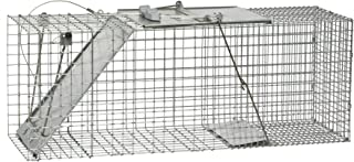 Havahart 1085 Easy Set One-Door Cage Trap for Raccoons, Stray Cats, Groundhogs, Opossums, and Armadillos
