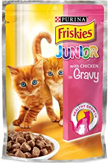 Purina Friskies Junior with Chicken In Gravey Cat Food Single Serve Pouch, 100g