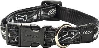 Rogz Fancy Dog Collar, Black Medium