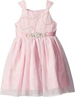 Us Angels Soutache Bodice w/ Tulle Skirt (Toddler/Little Kids)