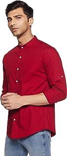 Diverse Men's Solid Slim Fit Casual Shirt