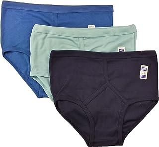 Sockstack 6 Pairs Men's Colour Y-Fronts Underpants, 100% Pure Cotton Trad Briefs Underwear, M L XL XXL