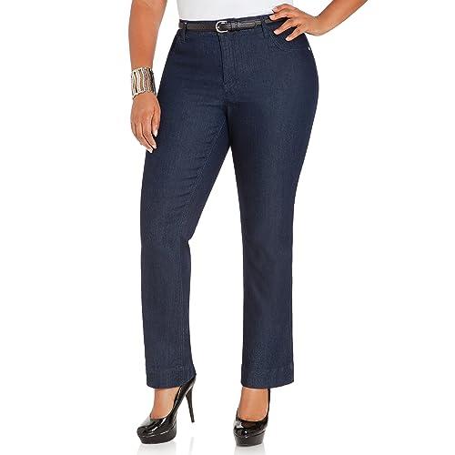 12f847f2d50 Ashley Stewart Women s Plus Size AVG INDIGO BOOTCUT - Size  14
