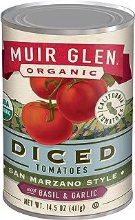 Muir Glen Organic Diced Tomatoes San Marzano Style With Basil and Garlic, 14.5 oz