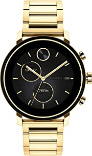 Connect 2.0 Unisex Powered with Wear OS by Google Stainless Steel and Ionic Light Gold 2 Plated Steel Smartwatch, Color: Yellow (Model: 3660036)
