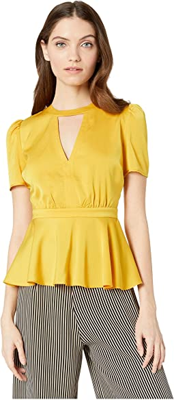Peplum Slit Detail Top