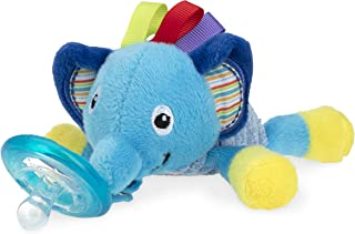 Nuby Calming Natural Flex Snuggleez Pacifier with Plush Combo Set for Cuddling with Comfort, 0M+, Elephant
