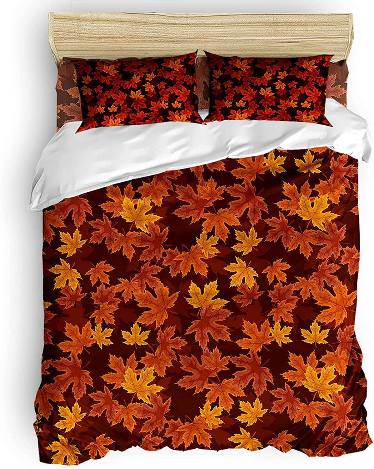 ! Super beauty product restock quality top! Duvet Cover Set Califonia King Thanksgiving Vintage Size Maple Award-winning store