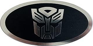 24Designs Compatible Steering Wheel Emblem Transformers Autobot Black Replacement for 2013 Kia Soul