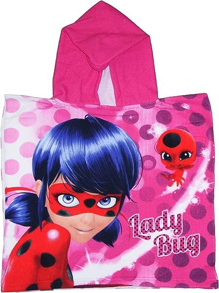Miraculous Ladybug Kids Poncho Pink