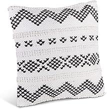 Lone Elm Studios Cotton Woven Square Pillow Home Decor, 18InL x 18InW x 5.5InH, Multicolor