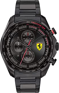 Ferrari Speedracer Men's Black Dial Stainless Steel Watch - 830654