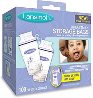 Lansinoh Breastmilk Storage Bags 100 Count BPA Free and BPS Free