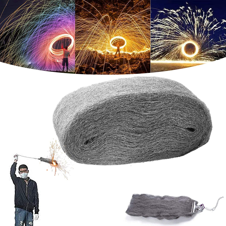 Yoruii Rainbow Steel Wool Fireworks 2021 Flame Magic Fire Magic Tricks Simulation Fireworks Celebration New Year Christmas Steel Wool Flame Magic Fire Steel Wool Firework Flame