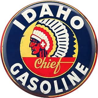 Open Road Brands Idaho Gasoline Rustic Embossed Metal Sign