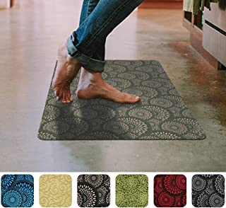 Cappuccino Floor Mat Ultra-Thin Kitchen Rug with Slip-Resistant Rubber Backing 35x 23in