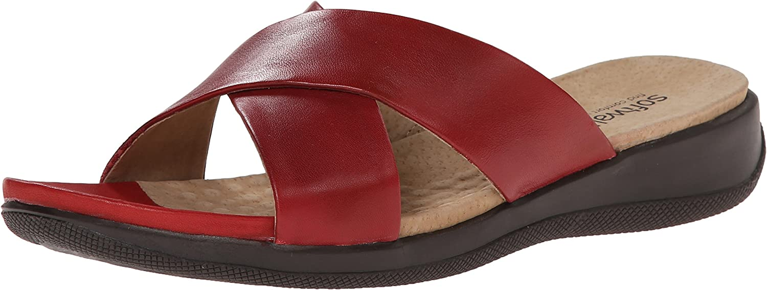 Softwalk Woherren Tillman Wedge Sandal, rot, 6 W US US US  ce9921