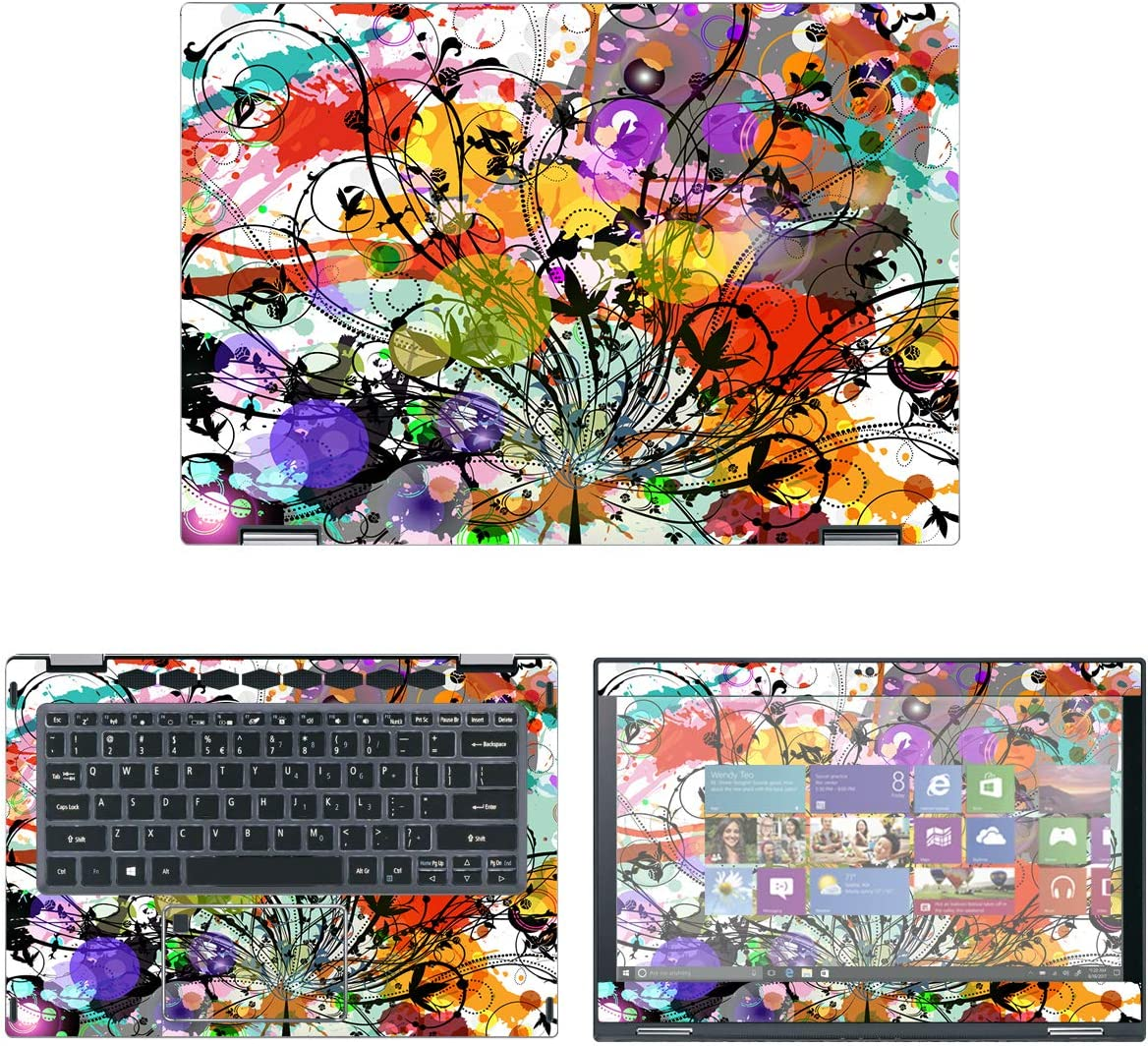 Decalrus - Protective Decal Bamboo Skin Sticker for Acer Spin 5 Convertible SP513-53N / SP513-52N (13.3