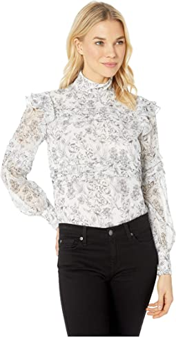 aa48fe069 LAUREN Ralph Lauren. Georgette Button Down Shirt. $30.99MSRP: $89.50. New.  Silk White/Polo Black
