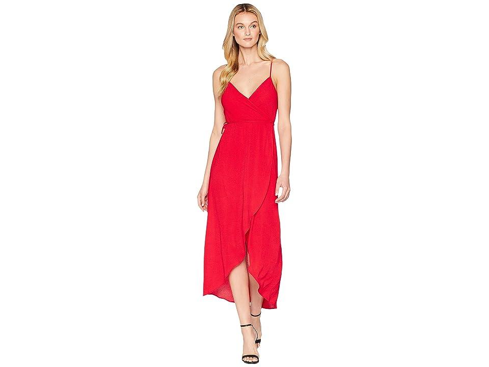 Show Me Your Mumu Meghan Wrap Dress (Tomato Red 2) Women