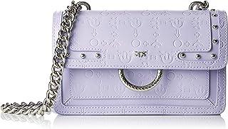 Pinko Mini Love Monogram Tracolla Vitello,女式单肩包,紫色(淡紫色),7x14x21 厘米(宽 x 高长)