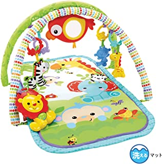 Fisher Price CHP85 Rainforest Friends 3-in-1 Musical Activity Gym, New-Born Baby Play Mat with Music and Sounds, Suitable from Birth 1 - Pack