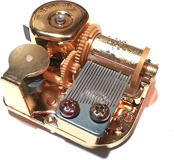 Odyssey Online Golden 18 Note Sankyo Music Box Movement With Cover And Spare Key C Thru H Grandfathers Clock