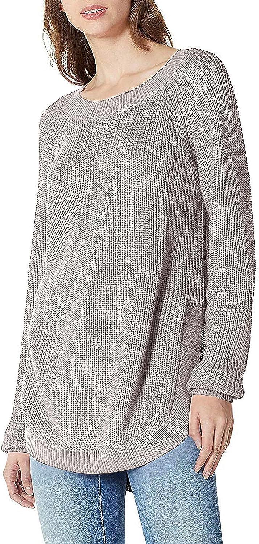 SUNJIN ACRO Women's Long Sleeve Import Split Seattle Mall Knit Sweater Crewneck Side