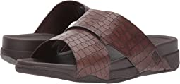 FitFlop Bando Leather Croc Slide