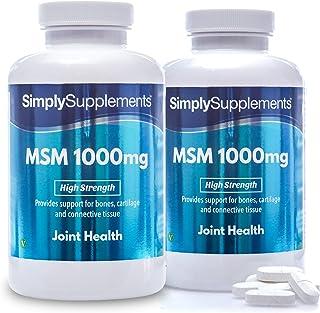 Metilsulfonilmetano MSM 1000 mg - ¡Bote para 6 meses! - Apto para veganos -360 comprimidos - SimplySupplements