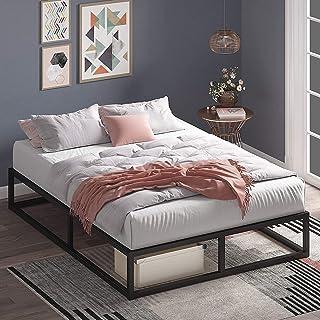 Zinus Joseph 25cm Queen Bed Frame Base Mattress Foundation Support - Industrial Metal Steel