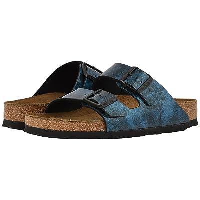 Birkenstock Arizona Soft Footbed (Milky Way Blue Birko-Flor) Women