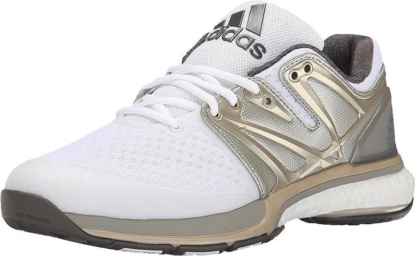 Adidas Stabil Boost Volleyball chaussures, Core Noir Chaussette Vert Blanc, 6 M Us