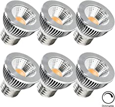 Muslish PAR16 LED Spotlight Bulb Dimmable-6 Pack, 5W-50W Halogen Equivalent, 480Lumens, 2700K, 90° COB Bulb with Aluminum Profile Cover for Living Room, Dinning Room, Kitchen