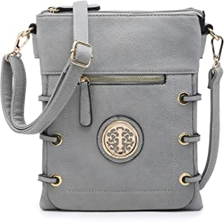 Women's Lightweight Functional Crossbody Bag Multi Pockets Shoulder Bag with Stylish Triple Compartments