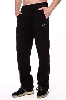 Men's Polar Fleece Thermal Sweatpants with Zipper Pockets