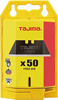 Tajima VRB2-50B V-REX II Premium Tempered Steel Utility Knife Blades, 50-Pack
