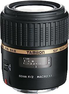 Tamron G005E SP AF 60 mm F/2 Di II LD (IF) Macro 1:1 - Objetivo para Canon (Distancia Focal Fija 60mm Apertura f/2-2 Macro diámetro: 55mm) Negro