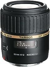 Tamron G005E SP AF 60 mm F/2 Di II LD (IF) Macro 1:1 - Objetivo para Canon (Distancia Focal Fija 60mm, Apertura f/2-2, Macro, diámetro: 55mm) Negro