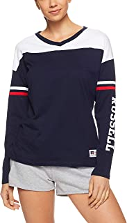 Russell Athletic Women's Ls T-Shirt, Navy/White